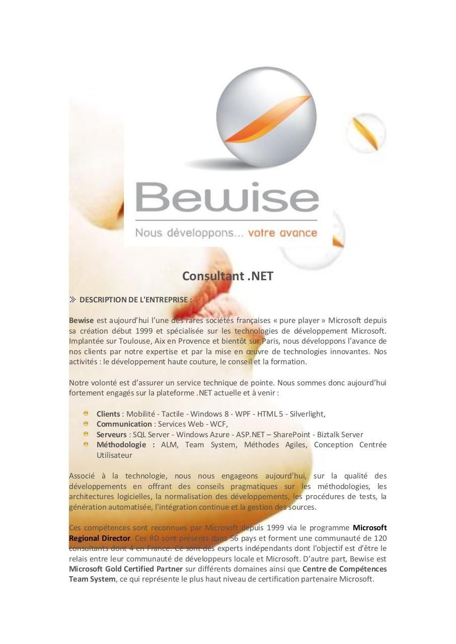 description de l u0026 39 entreprise   par fcolin - bewise