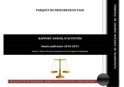 rapport annuel 2010 2011