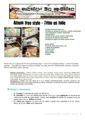 tuto album free style tribu en folie