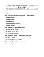 constitution algerienne 1996