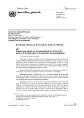 resolution du conseil des dh sur la jt 2011