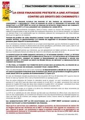 165430 2011 11 30 tract sur fractionnement des pensions
