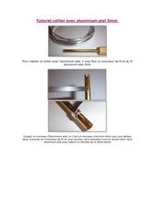 Fichier PDF tutoriel collier avec aluminium plat 5mm