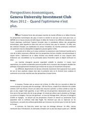 perspectives economiques mars 2012 crg