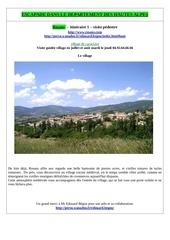 rosans itineraire 1 t le village