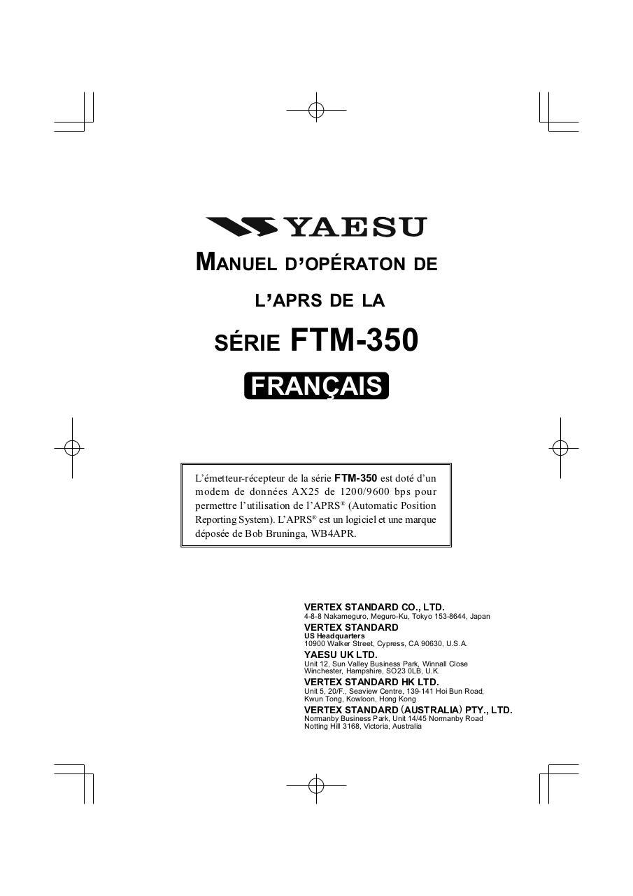 Aperçu ftm-350_aprs_fr.pdf - Page 1/40.