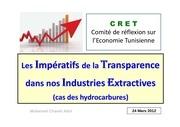 les imperatifs de la transparence dans nos industries extractives 24mars2012
