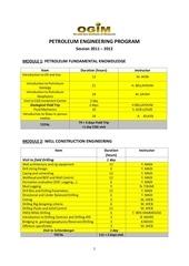 petroleum engineering program 2012