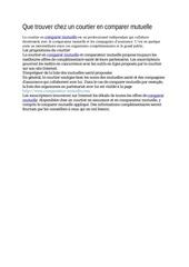 Fichier PDF que trouver chez un courtier en comparer mutuelle