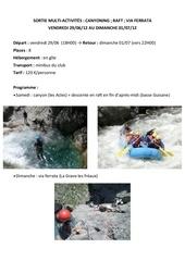 sortie we canyon raft via ferrata 2012