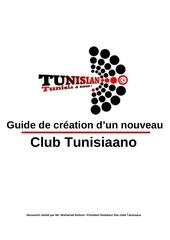 guide de creation d un club tunisiaano