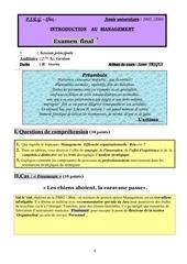 recueil d examens de management