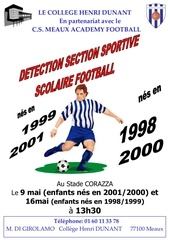 affiche detection sssfoot 2012
