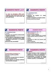 etude clinique et diagnostic positif et differentiel2012