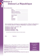 bulletin adhesion dlr
