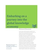 embarking on a journey into the global knowledge economy 20120328