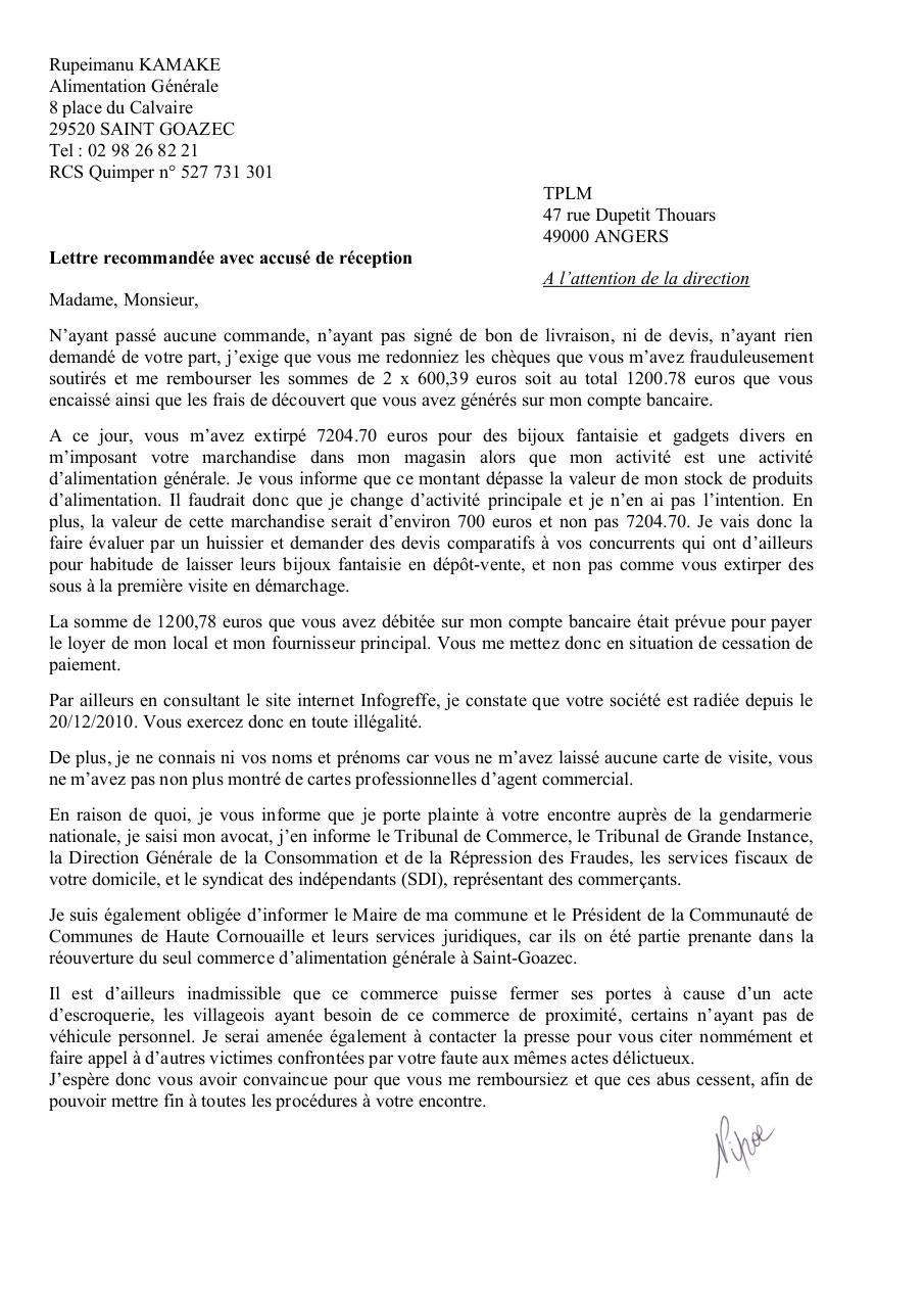 Apercu Du Document Lettre Procureur Kamakepdf