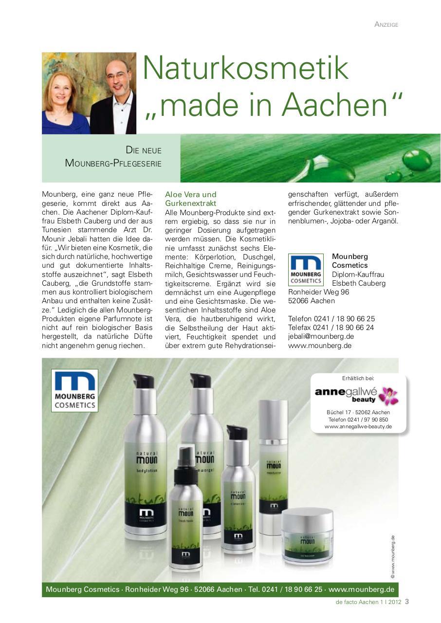 Naturkosmetik Made In Aachen Fichier Pdf