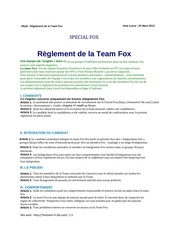 reglement fox test
