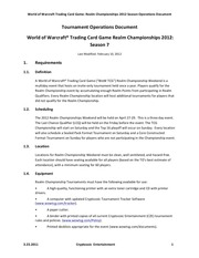 tournament operations document realm championship 2012 europe