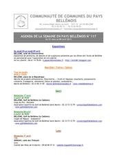 agenda de la semaine en pays bellemois n 117