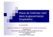 place infirmier chef gouvernance hospitaliere