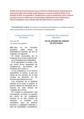 revisi n del proyecto de decreto por el que se reforman y adicionan diversas disposiciones de la constituci n pol tica de los estados unidos mexicanos