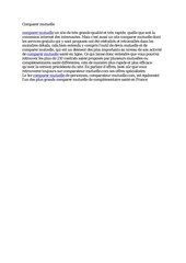 Fichier PDF comparer mutuelle
