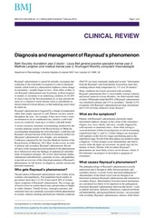 diagnosis and management of raynaud s sd