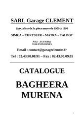 catalogue client bagheera et murena