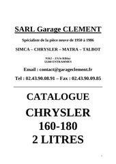 catalogue client chrysler 160 180 et 2 litres