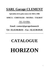 catalogue client horizon