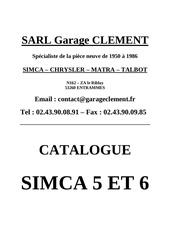 Fichier PDF catalogue client simca 5 et 6
