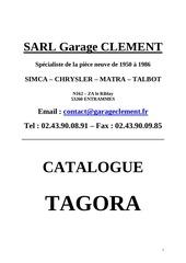 catalogue client tagora