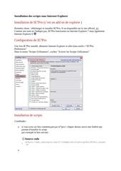 instalation script sous internet explorer by bourin