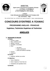 program francais anglais