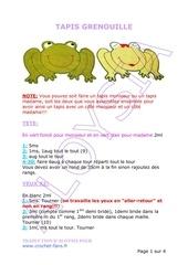 tapis grenouille