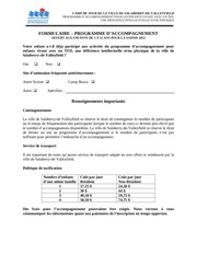 formulaire programme d accompagnement 2012