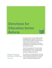 directions for education sector reform 20120406