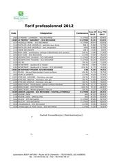 tarif pro 2012 1