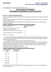 serie corrigee n 1 EnoncEs distribution statistique a un seul caractere