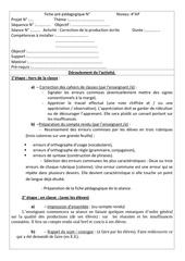 fiche pre pedagogique correction de la production ecrite