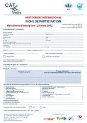 fiche de participation