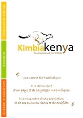 kimbia kenya presentation generale