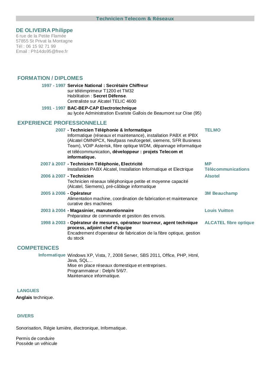 curriculum vitae par cvitae - cv 2012 de oliveira pdf