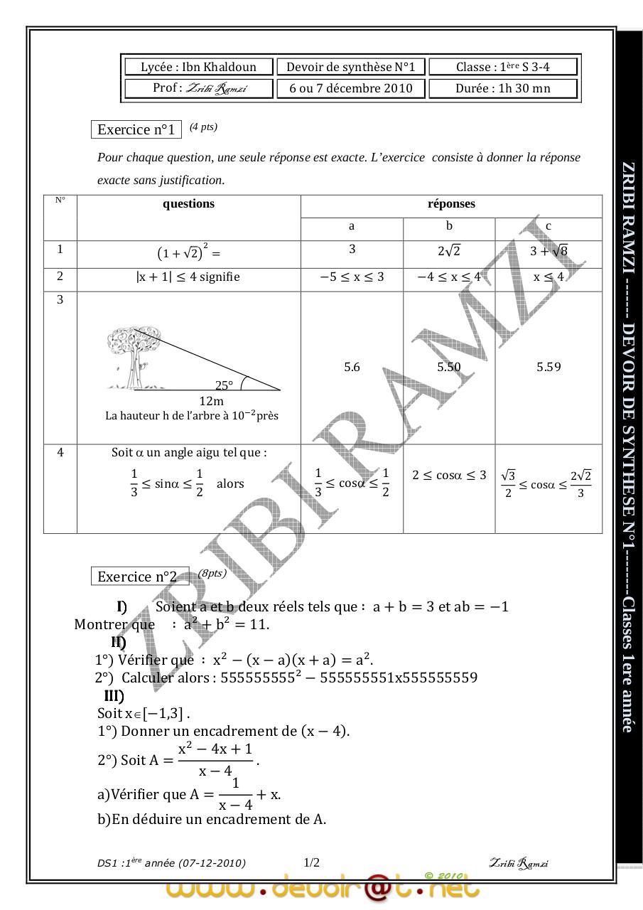 Devoir+de+Synthèse+N°1+-+Math+-+1ère+AS++(2010-2011)+Mr ...