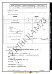 devoir de synthese n 1 math 1ere as 2010 2011 mr zribi ramzi
