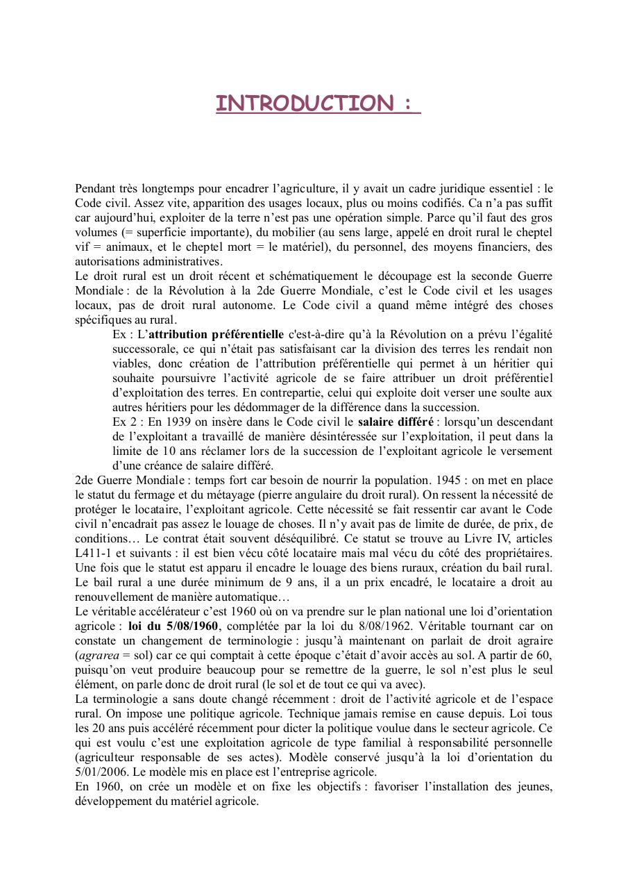Aperçu du document Droit rural M1.pdf - page 1/40