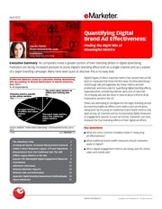 emarketer quantifying digital brand ad effectiveness finding the right mix of meaningful metrics
