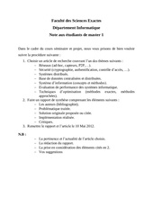 projets seminaires